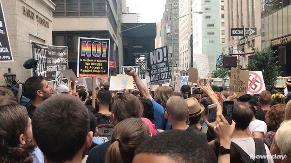 On Monday, Aug. 14, 2017, President Donald Trump'smotorcade