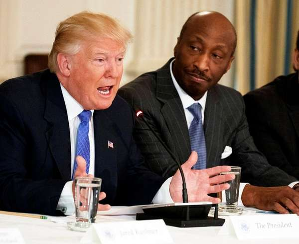 Trump attacks CEOs who left his jobs council