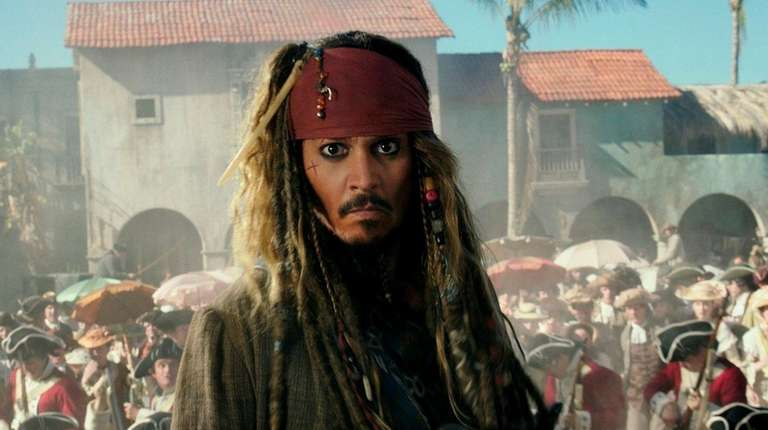 Johnny Depp stars as Jack Sparrow in the