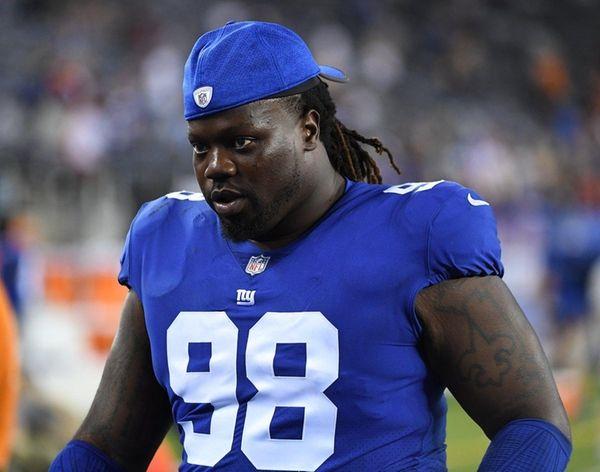 Giants defensive tackle Damon Harrison walks off the