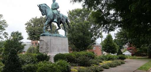 The statue of Confederate Gen. Robert E. Lee