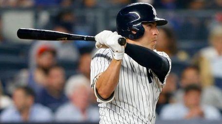 Jacoby Ellsbury of the New York Yankees follows