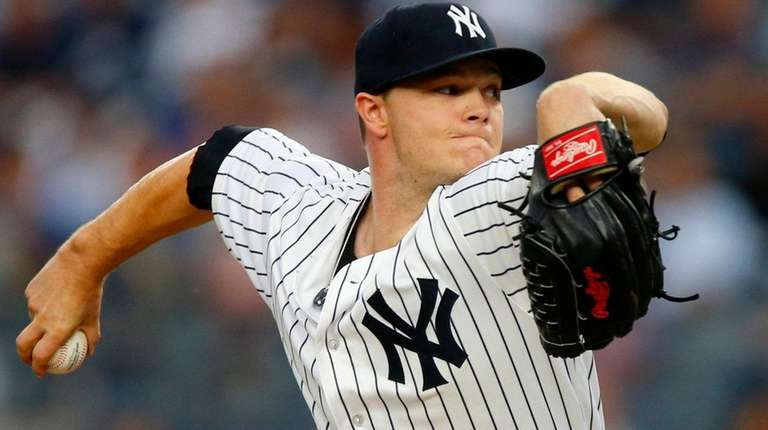 Sonny Gray of the Yankees pitches against the
