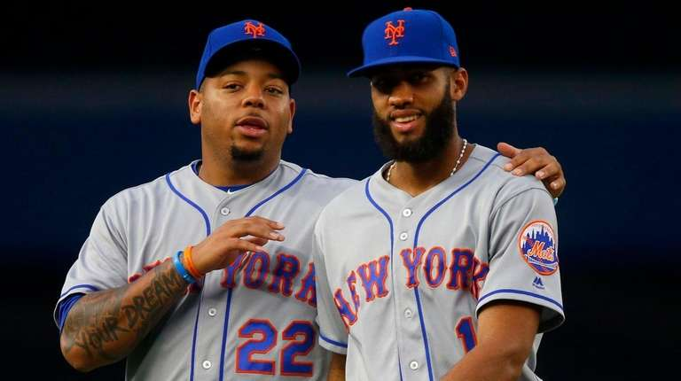 Rookies Dominic Smith, left, and Amed Rosario of