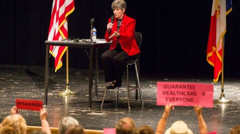 Republican Sen. Joni Ernst holds a town hall