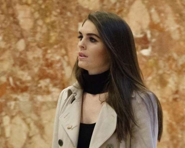 Hope Hicks at Trump Tower in New York,