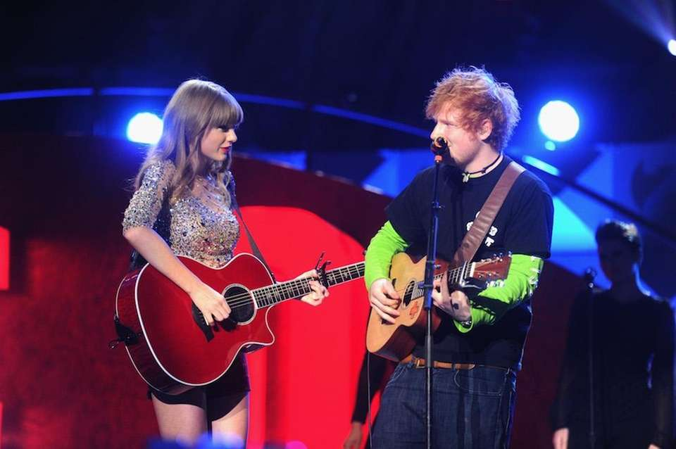 Musicians Taylor Swift and Ed Sheeran have toured