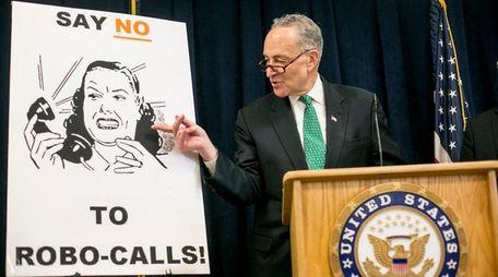 New York Sen. Chuck Schumer holds a news