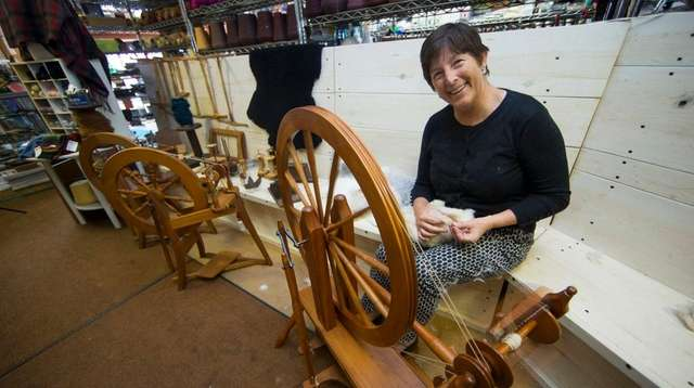 Peggie Ehlers works with of natural angora fur from her German Giant Angora bunnies. Photo Credit Randee Daddona. u201c  sc 1 st  Newsday & Farm to fashion trend has material gains for fiber farmers | Newsday 25forcollege.com