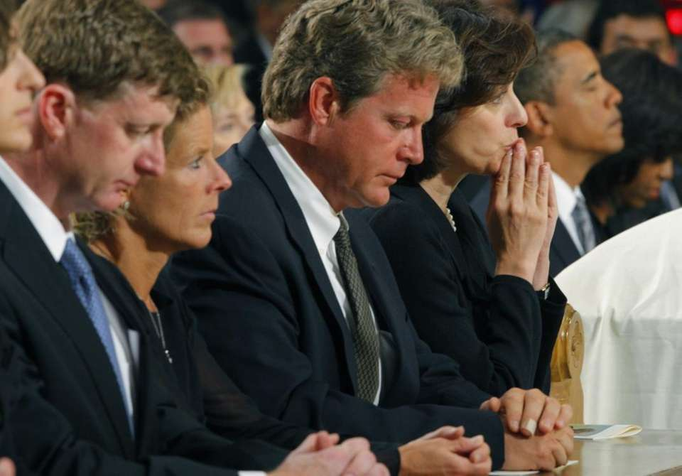 Edward Kennedy Jr., third from left, Vicki Kennedy,