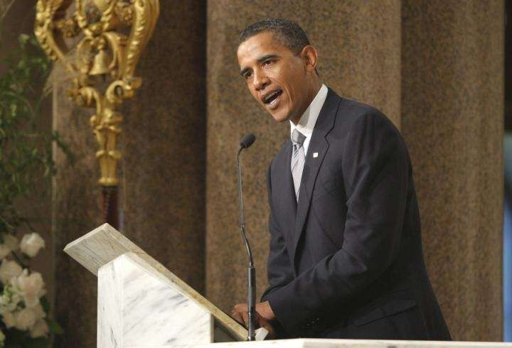 President Barack Obama delivers a eulogy for Sen.