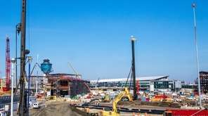 Construction at LaGuardia Airport, seen on Wednesday, Aug.