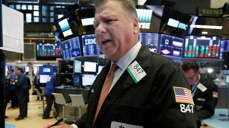 Trader George Ettinger on the floor of the
