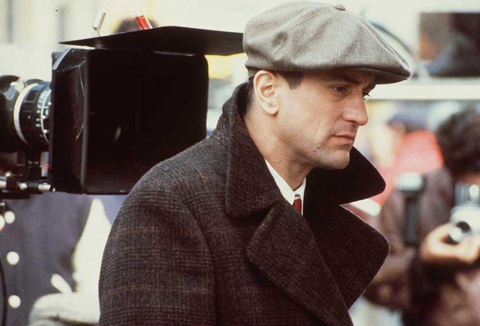 Robert De Niro on the set of