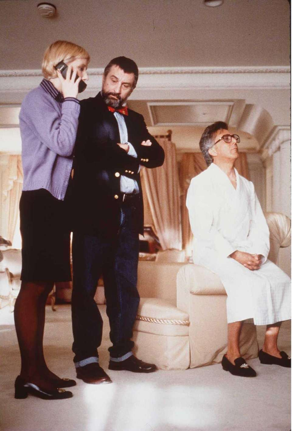 Anne Heche, left, Robert De Niro and Dustin