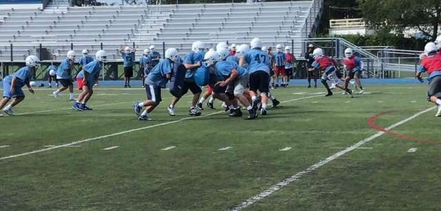 The Oceanside offensive line looks to play a