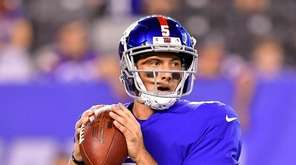 Davis Webb of the Giants looks to pass