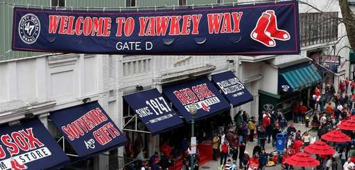 Yawkey Way outside Fenway Park in Boston before
