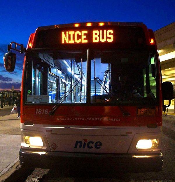 Nice bus at Roosevelt Field Mall in Garden