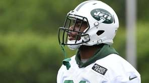 New York Jets wide receiver Quincy Enunwa looks