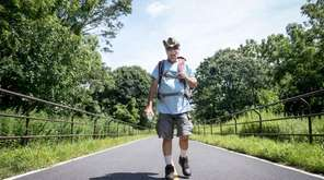 Kenny Rogers walks the Setauket-Port Jefferson Station Greenway