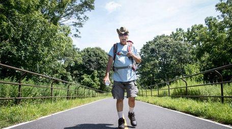 Kenny Rogers walks the Setauket-Port Jefferson Station Greenway
