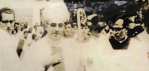 An undated photograph of Archbishop Oscar Romero of