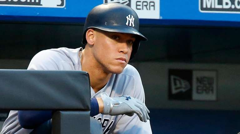 Aaron Judge of the New York Yankees waits