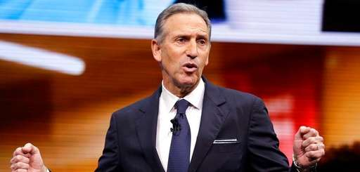 Starbucks CEO Howard Schultz speaks at the Starbucks