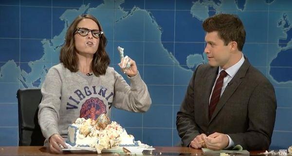 "Former ""Saturday Night Live"" cast member Tina Fey,"