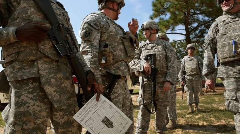 Soldiers training at Ft. Bragg in North Carolina