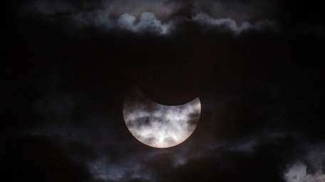 A total solar eclipse is seen from Palembang,
