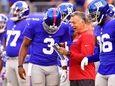 Geno Smith #3 of New York Giants speaks