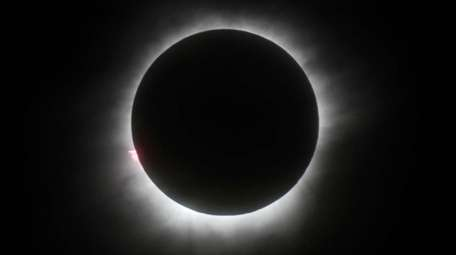 The total solar eclipse on Monday, Aug. 21,
