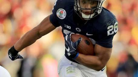 Penn State's Saquon Barkley, shown here during the