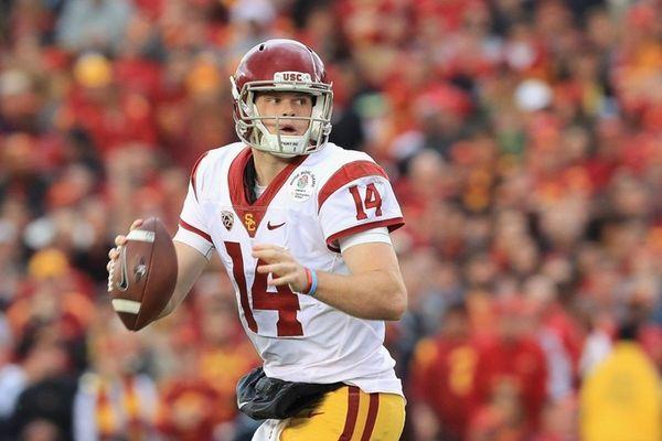 USC quarterback Sam Darnold, shown here during the