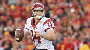 USC quarterback Sam Darnold, shown here during the