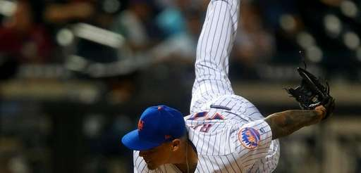 AJ Ramos of the New York Mets pitches