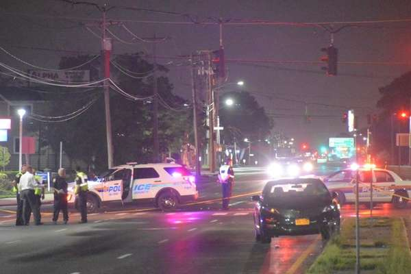 The Nassau County police investigate after a pedestrian