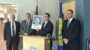 Suffolk Police Commissioner Timothy Sini announced the arrest