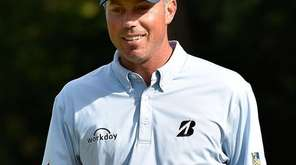 Matt Kuchar of the United States reacts to