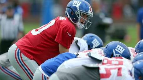 New York Giants quarterback Eli Manning calls a