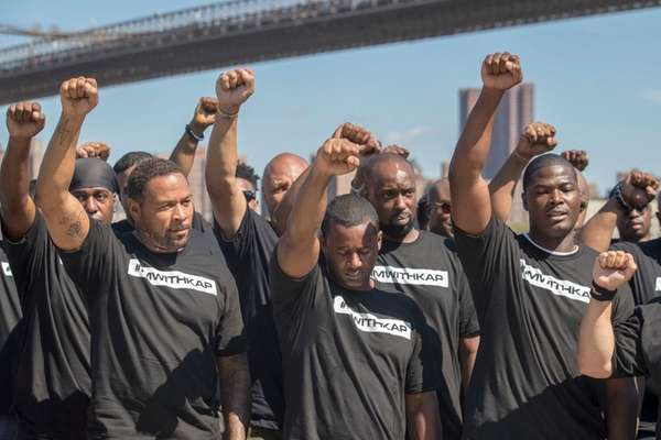 NYPD officers are throwing their support behind Colin Kaepernick-here's why