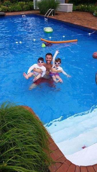 Uncle Evan Perlmutter with his awesome nephews Nathan