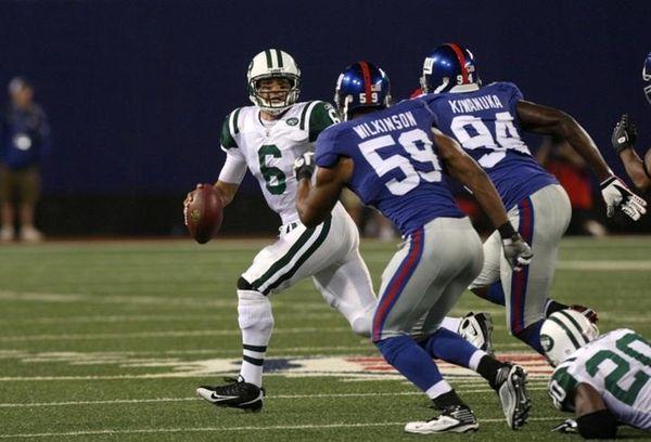 Quarterback Mark Sanchez #6 of the New York