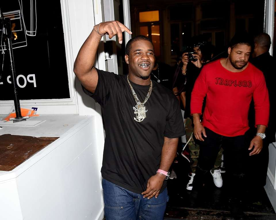 A$AP Ferg attends the launch of the UNIFORM