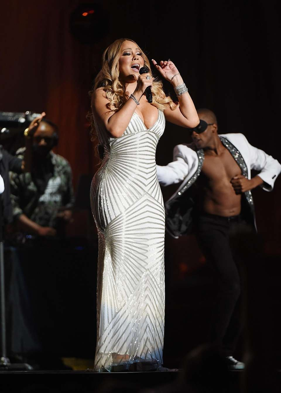 Mariah Carey performing at Madison Square Garden in