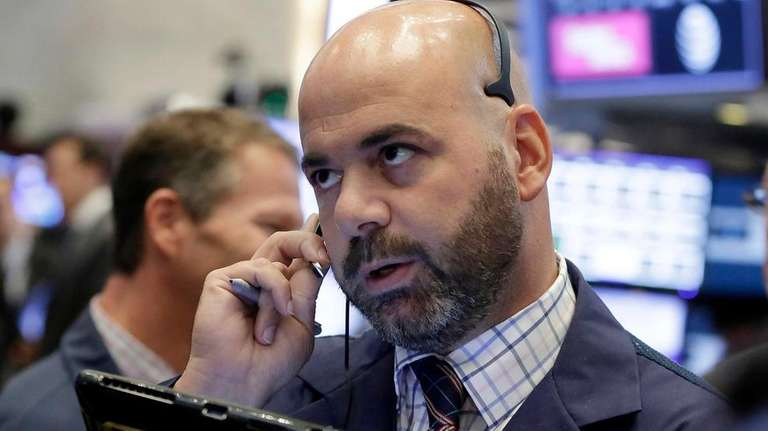 Trader Fred DeMarco at the NYSE on Aug.