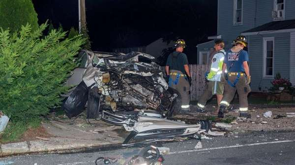 The driver was killed in a crash into