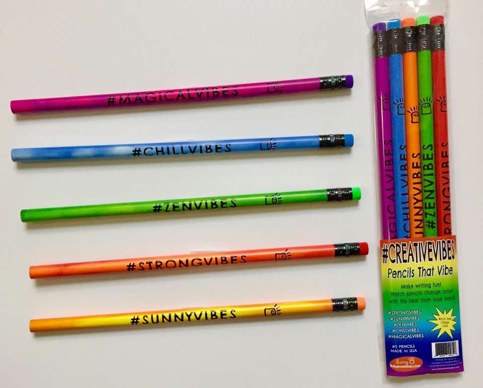 The new #Creative Vibes Pencil set from Sunny